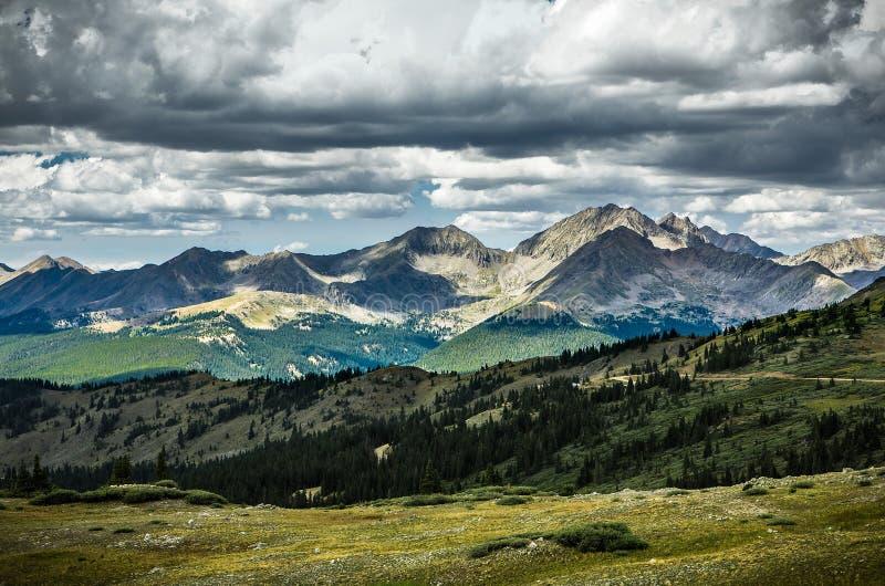 Paso del Cottonwood, divisoria continental de Colorado imagen de archivo libre de regalías