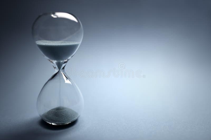 Paso del tiempo del reloj de arena fotografía de archivo