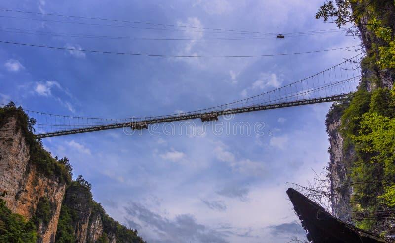 Paso elevado del vidrio de Zhangjiajie fotos de archivo libres de regalías
