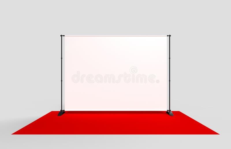 Paso en blanco y repetición que se resumen la bandera del contexto 3d rinden la ilustración stock de ilustración