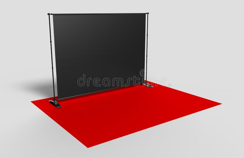 Paso en blanco y repetición que se resumen la bandera del contexto 3d rinden la ilustración ilustración del vector