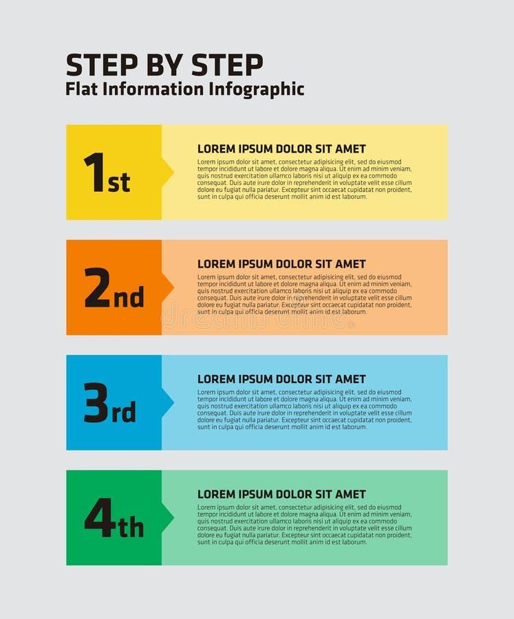 Download 4 paso Infographic ilustración del vector. Ilustración de concepto - 42437233