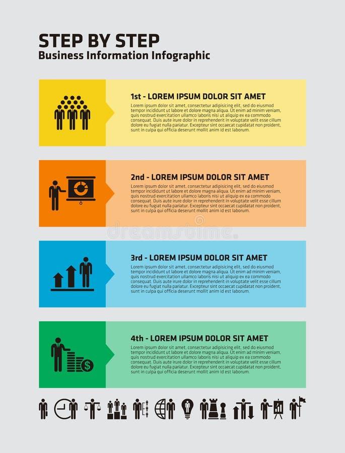 Download 4 paso Infographic ilustración del vector. Ilustración de proceso - 42437269