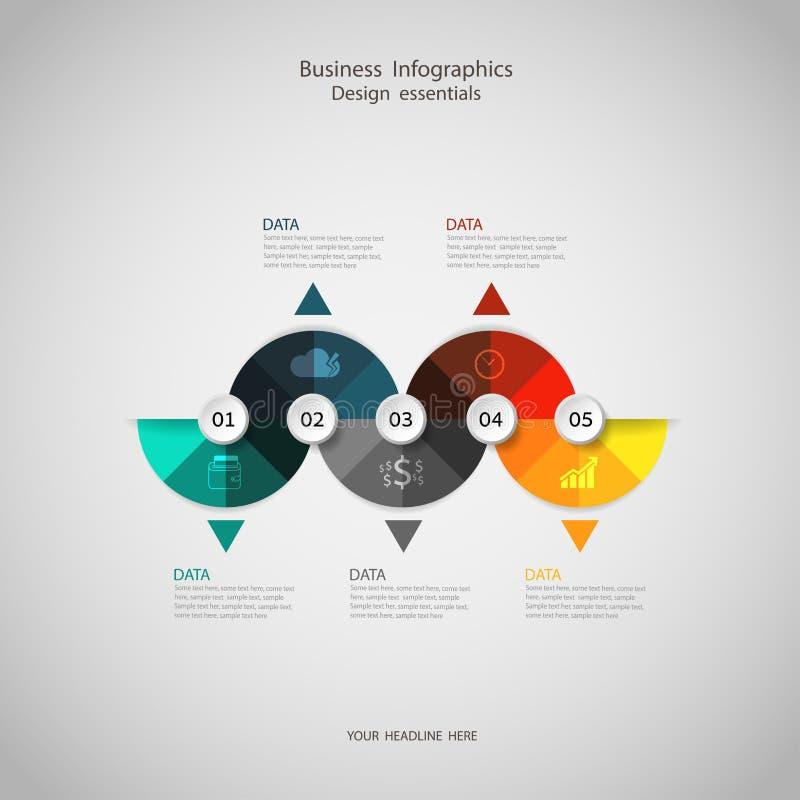 Paso infographic del concepto del negocio a acertado libre illustration