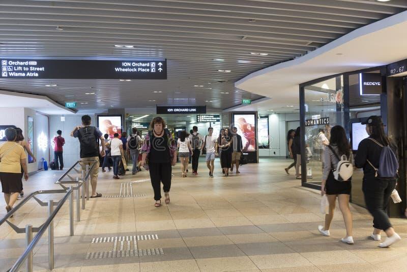 Paso subterráneo en el camino de la huerta en Singapur imagenes de archivo