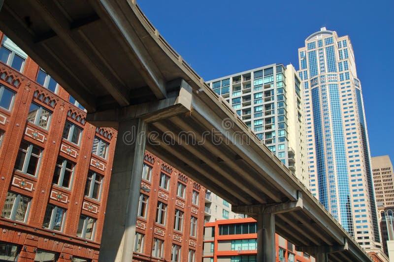 Download Paso superior de Seattle foto de archivo. Imagen de carretera - 1284784