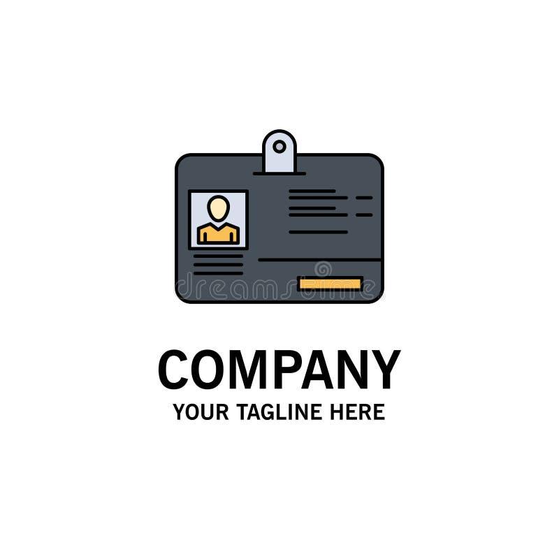 Paso, tarjeta, identidad, negocio Logo Template de la identificación color plano stock de ilustración