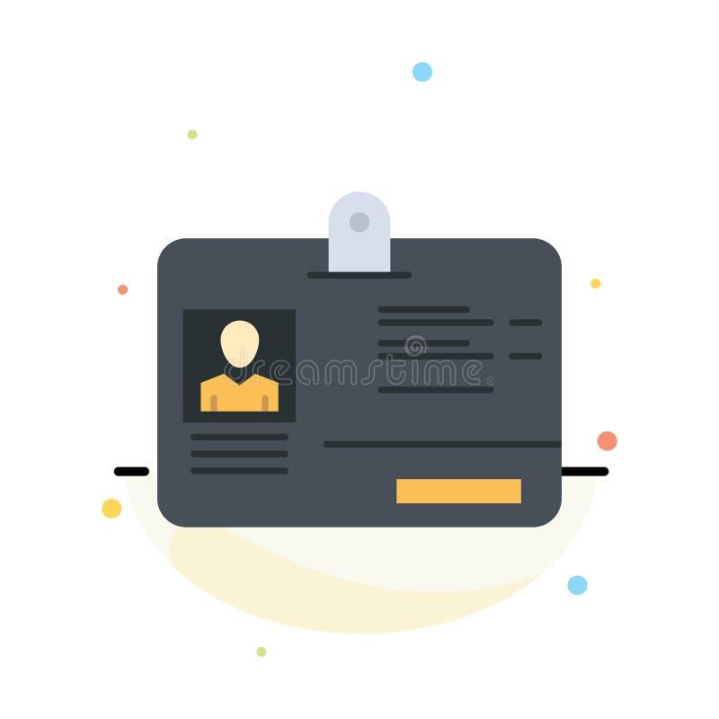 Paso, tarjeta, identidad, plantilla plana del icono del color del extracto de la identificación ilustración del vector