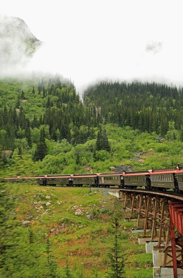 Paso y ruta blancos de Yukon fotografía de archivo