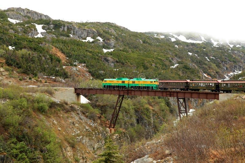 Paso y ruta blancos de Yukon imagen de archivo