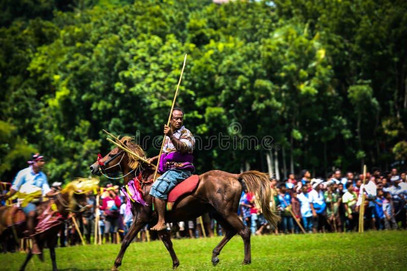 Pasola Tradycyjne gry, Sumba wyspa fotografia royalty free