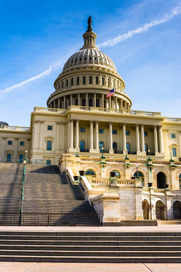 Pasos al capitolio de Estados Unidos, en Washington, DC fotos de archivo