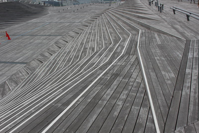 Pasos de madera de la escalera foto de archivo libre de regalías