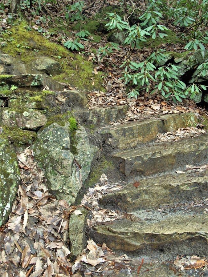 Pasos de piedra en el parque de estado de la roca de la ejecución fotos de archivo libres de regalías