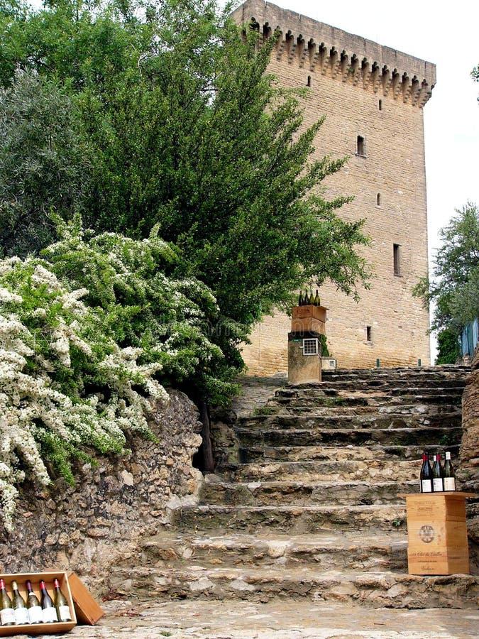 Pasos de progresión al departamento de vino viejo imagen de archivo