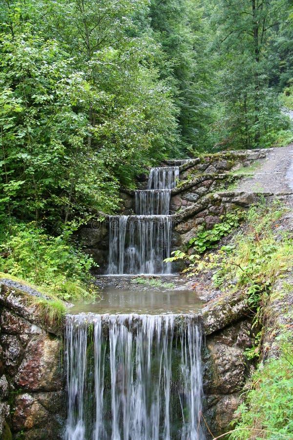 Pasos de progresión del agua fotografía de archivo
