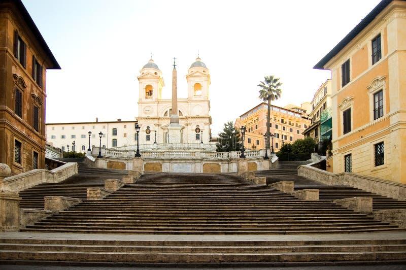 Pasos de progresión del español de Roma imagen de archivo