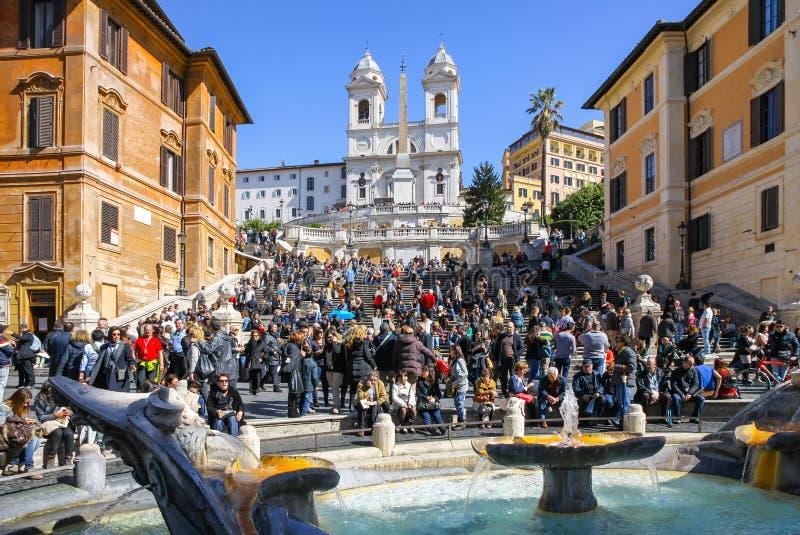 Pasos de progresión españoles en Roma, Italia imagen de archivo libre de regalías
