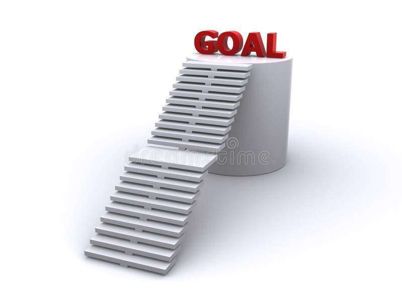 Pasos de progresión a la meta stock de ilustración