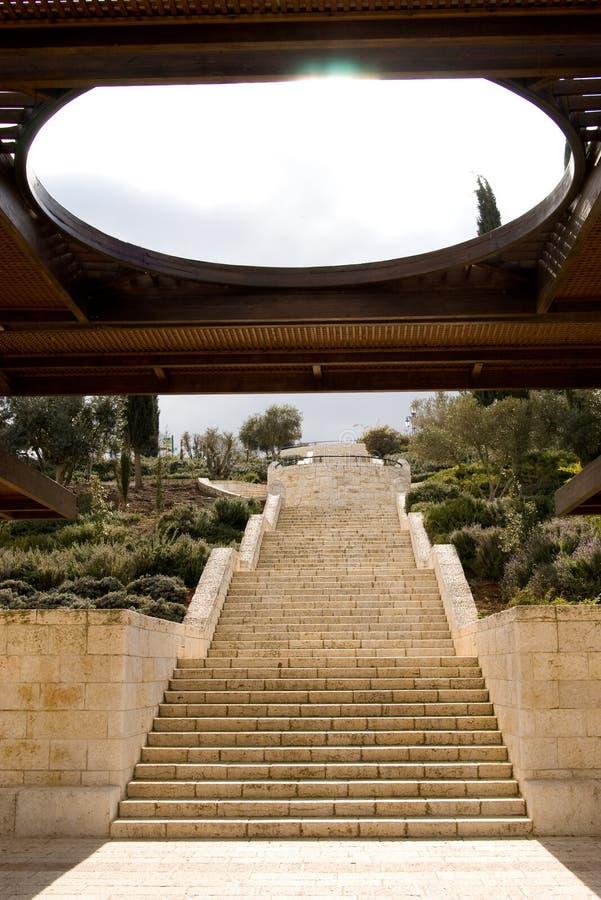Pasos de progresión, 'promenade' de Armon Hanatziv fotos de archivo