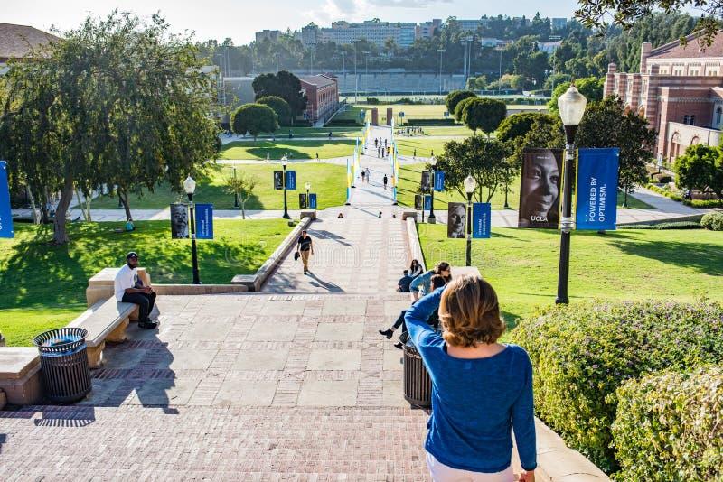 Pasos del UCLA Janss imagen de archivo