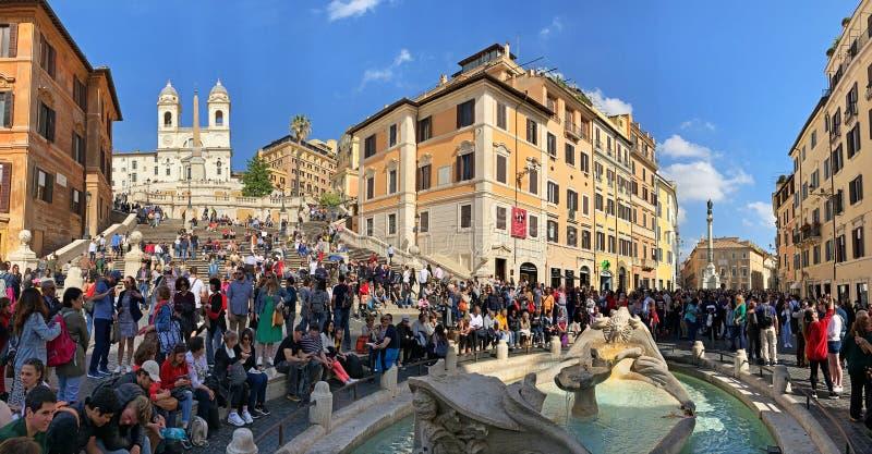 Pasos españoles panorama, Roma fotos de archivo