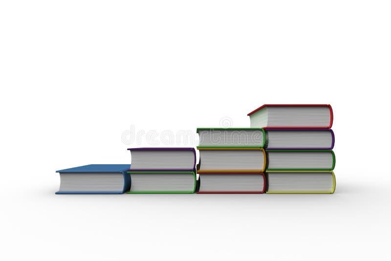 Pasos hechos de los libros libre illustration