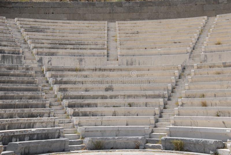 Pasos y asientos del Amphitheatre foto de archivo libre de regalías