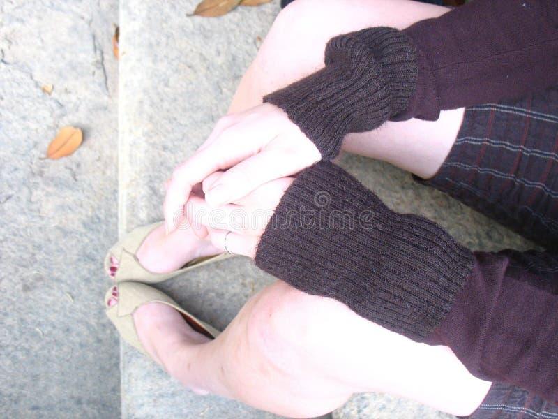Pasos y piernas foto de archivo libre de regalías