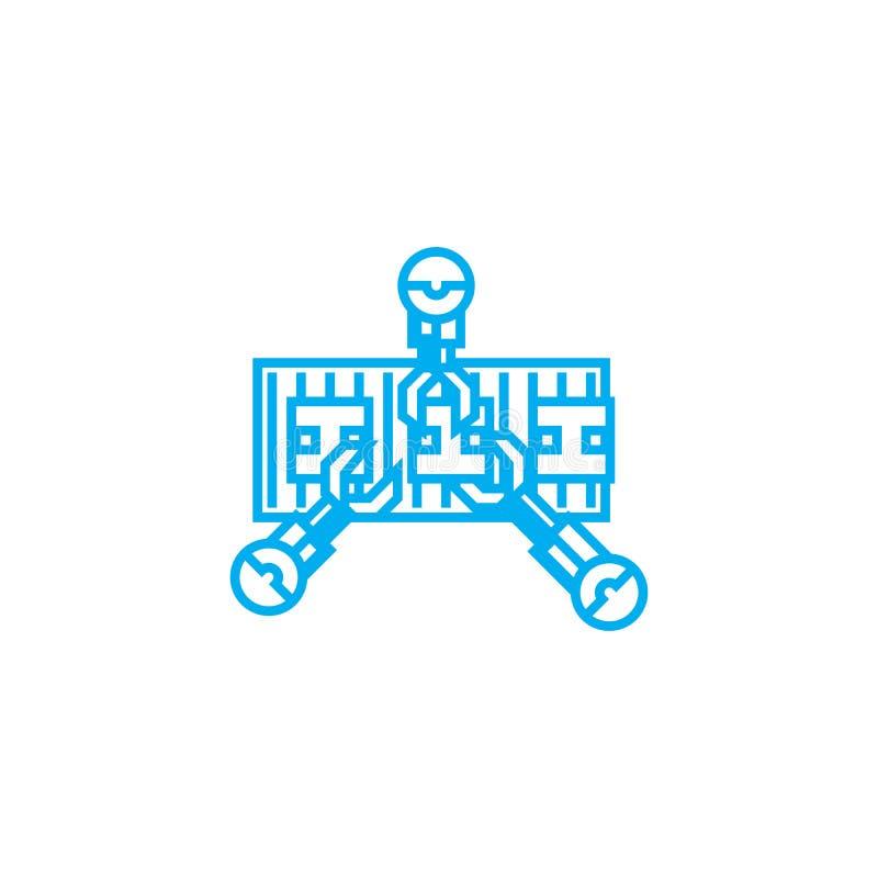 Pasowego konwejeru ikony liniowy pojęcie Pasowego konwejeru linii wektoru znak, symbol, ilustracja ilustracja wektor