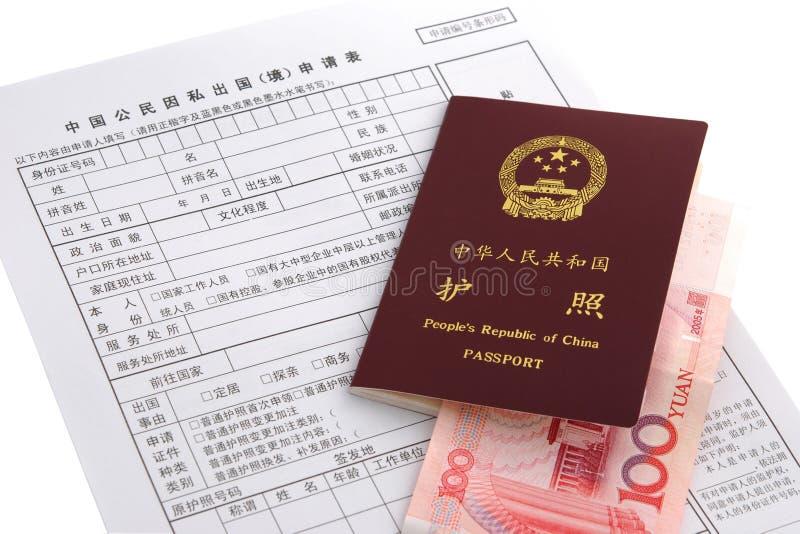 Paspoort en Aanvraagformulier stock foto
