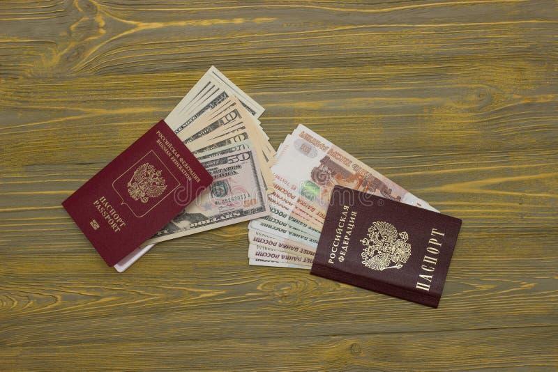 Paspoort en buitenlands paspoort royalty-vrije stock foto