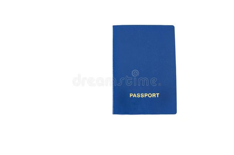 Paspoort op een witte achtergrond stock afbeelding