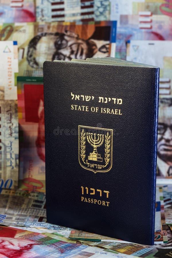 Paspoort van de staat van Israël stock foto's