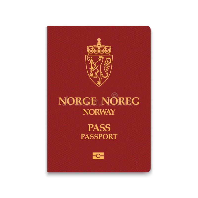 Paspoort van de vectorillustratie van Noorwegen vector illustratie