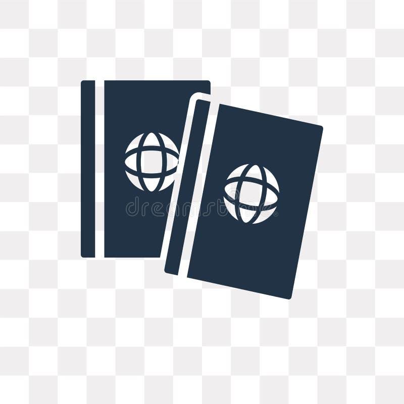 Paspoort vectordiepictogram op transparante achtergrond, Passpor wordt geïsoleerd royalty-vrije illustratie