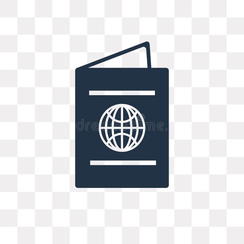 Paspoort vectordiepictogram op transparante achtergrond, Passpor wordt geïsoleerd vector illustratie