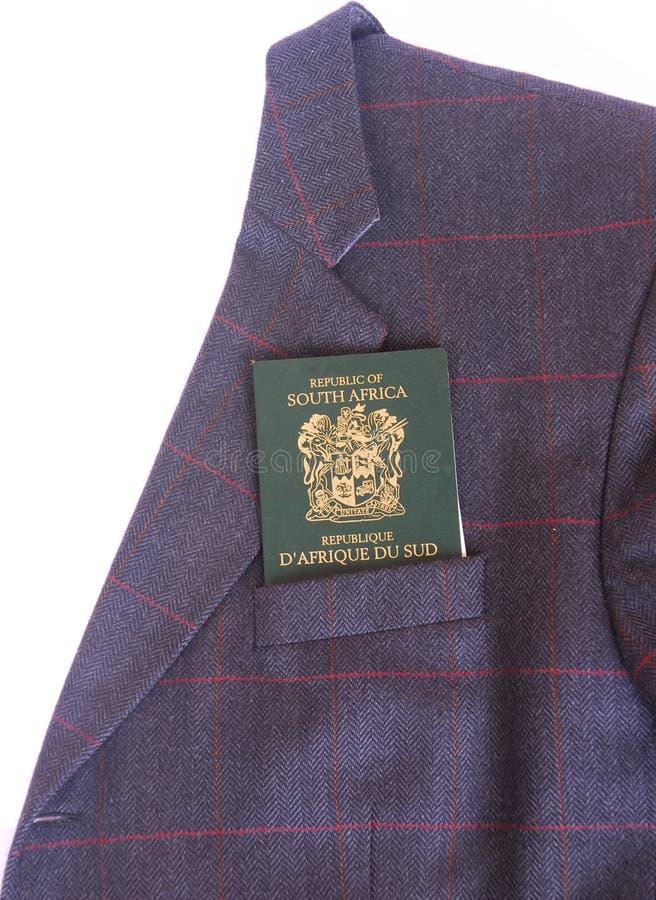 Paspoort in zak royalty-vrije stock afbeeldingen