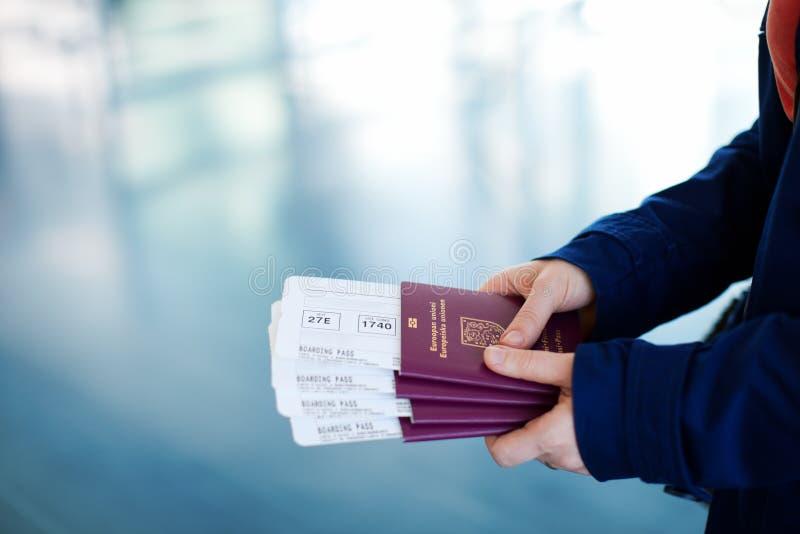 Paspoorten en instapkaarten stock fotografie