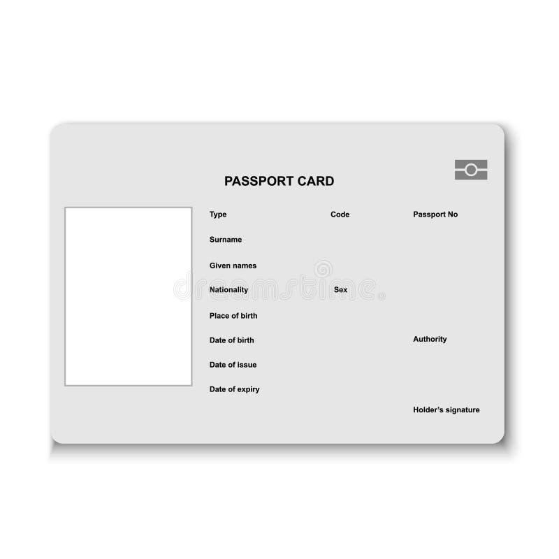 Paspoortkaart royalty-vrije illustratie