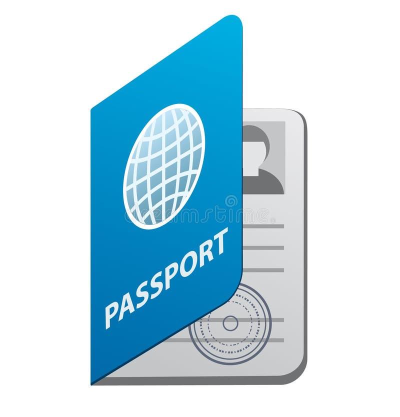 Paspoortpictogram stock illustratie