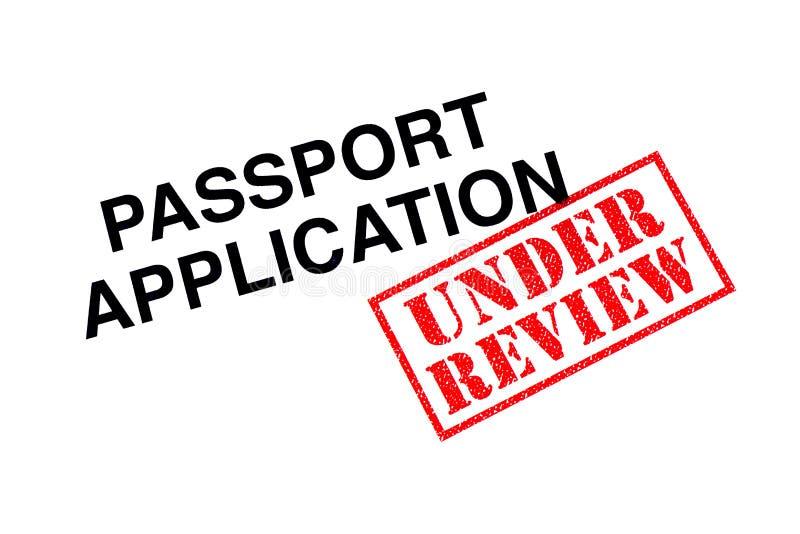 Paspoorttoepassing onder Overzicht royalty-vrije stock afbeelding