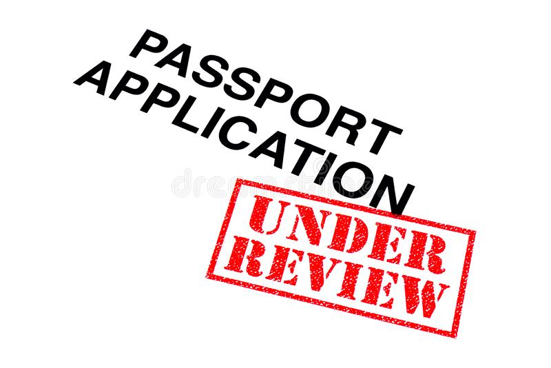 Paspoorttoepassing onder Overzicht royalty-vrije stock fotografie