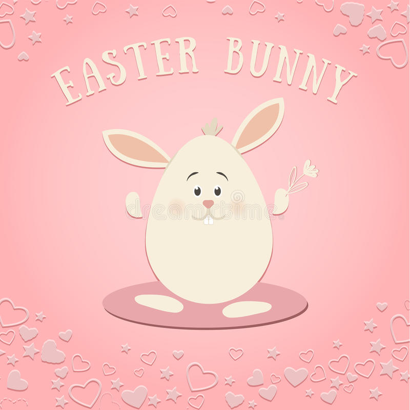 Pasqua Bunny On The Pink Background fotografia stock libera da diritti