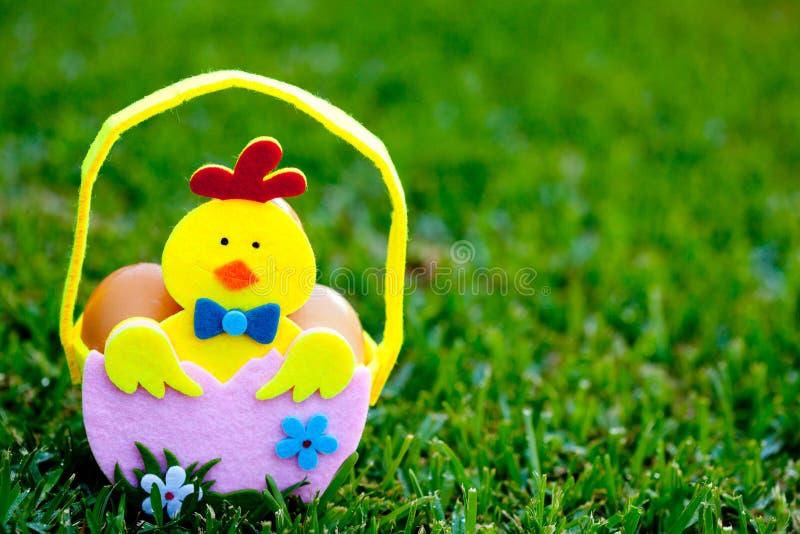 Pasqua - canestro dell'uovo fotografie stock