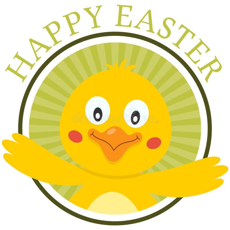 Pasqua Chick Greeting Card sveglio royalty illustrazione gratis
