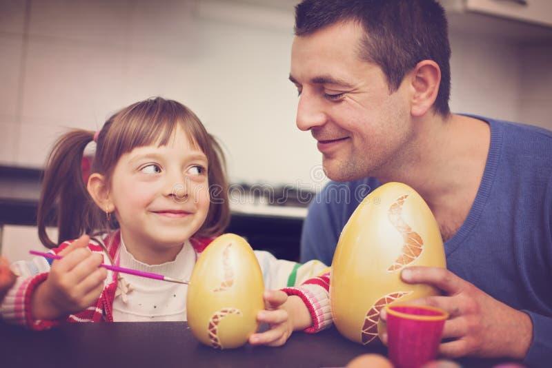 Pasqua, concetto 'nucleo familiare' fotografie stock