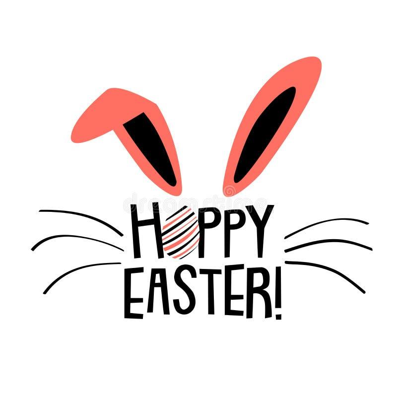Pasqua di luppolo Bunny Sign royalty illustrazione gratis