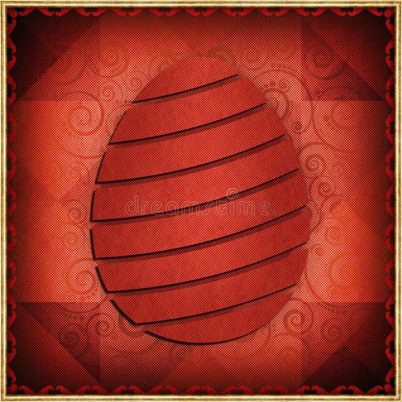 Pasqua felice - carta astratta illustrazione vettoriale