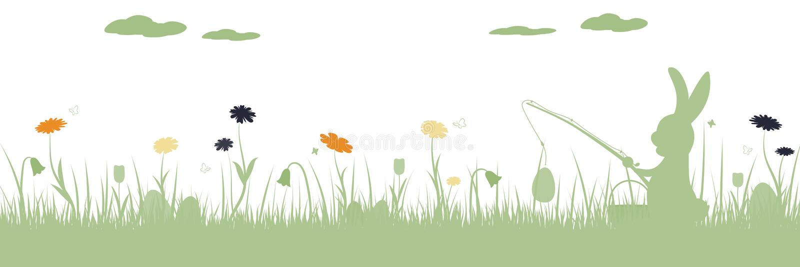 Pasqua felice - coniglio di pesca illustrazione vettoriale